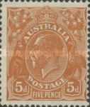 [King George V - New Watermark, type B47]