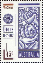 [The 50th Anniversary of the Lions International in Australia, 1917-1997, type BBB]