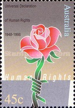 [The 50th Anniversary of the Declaration of Universal Human Rights, type BEY]