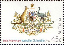 [The 50th Anniversary of Australian Citizenship, type BFD]