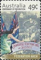 [The 100th Anniversary of the Commonwealth of Australia - Self Adhesive, type BML1]