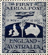 [Airmail - First Airmail Flight from England to Australia, type D]