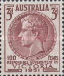 [The 100th Anniversary of the Discovery of Gold in Victoria & The 100th Anniversary of the Self Governance in Victoria, type DF]
