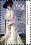 [The 150th Anniversary of the Birth of Dame Nellie Melba, 1861-1931, type DNE]