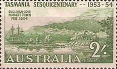 [The 150th Anniversary of the First Office in Tasmania, type DT]