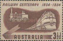 [The 100th Anniversary of the Railway, 1854-1954, type EB]