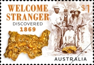 [The 150th Anniversary of the Discovery of the Massive Gold Nugget Welcome Stranger, type EQC]