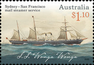 [The 150th Anniversary of Sydney-San Francisco Mail Steamer Service, type ETK]