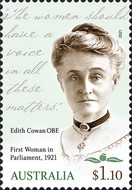 [The 100th Anniversary of First Woman in Parliament, Edith Cowan, 1861-1932, type EXA]