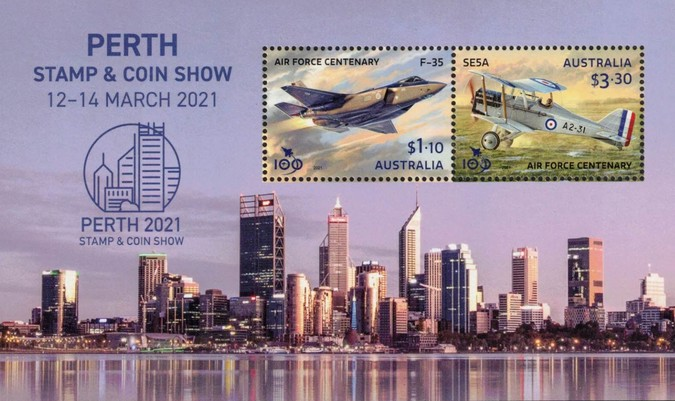[Perth Stamp and Coin Show - The 100th Anniversary of the Royal Australian Air Force, type EXB]