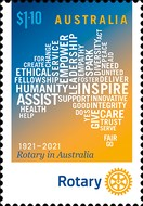 [The 100th Anniversry of the First Rotary Club in Australia, type EXO]