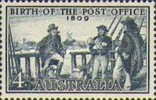 [The 150th Anniversary of the Birth of Australian Post, 1809-1959, type FK]