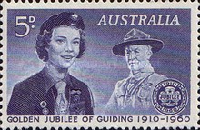 [Golden Jubilee of Guiding, 1910-1960, type FW]