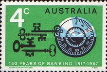 [The 150th Anniversary of The Bank of Australia, Bank of New South Wales, type IO]