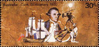 [The 200th Anniversary of the First European Contact with East Coast of Australia by Captain James Cook, type KP]