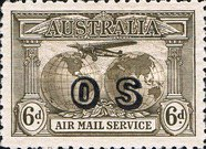 [Airmail -  Charles Kingsford Smith's World Flights - Overprinted