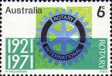 [The 50th Anniversary of the Rotary Club in Australia, type LL]
