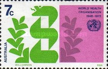 [The 25th Anniversary of the World Health Organisation, type NB]