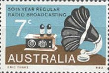 [The 50th Anniversary of the Regular Radio Broadcasting, type NZ]