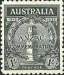 [The 20th Anniversary of the Gallipoli Landing by ANZAC, type T1]