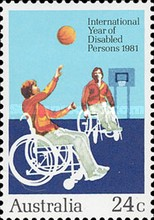[International Year of Disabled Persons, type WE]