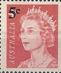 [Queen Elizabeth II Surcharged, type XIR]
