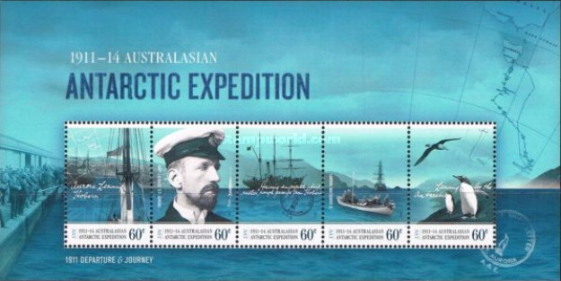 [The 100th Anniversary of the Australasian Antarctic Expedition, Typ ]