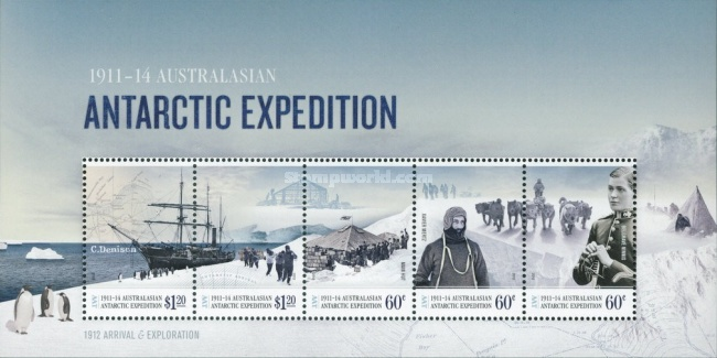 [The 100th Anniversary of the Australasian Antarctic Expedition of 1911-1914, Typ ]