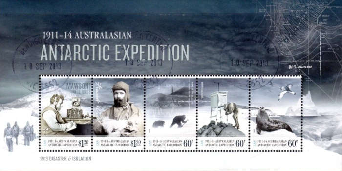 [The 100th Anniversary of the Australasian Antarctic Expedition, type ]