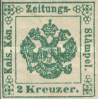 [Newspaper Revenue Stamps - Large Crown, Typ A2]