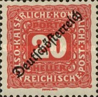 [Postage Due Stamps of 1916 Overprinted