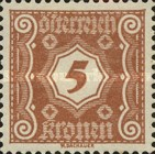 [Numeral Stamps - New Design, Typ M3]