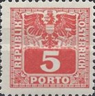 [Numeral Stamps with Eagle, type U3]