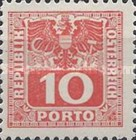 [Numeral Stamps with Eagle, type U4]