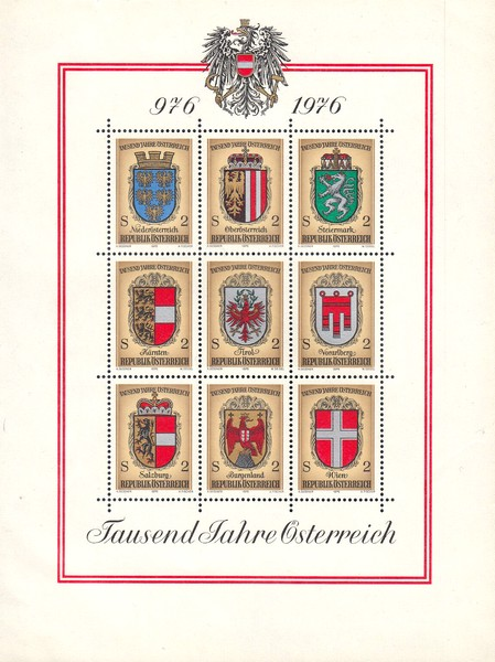 [The 1000th Anniversary of Austria 976-1976, Typ ]