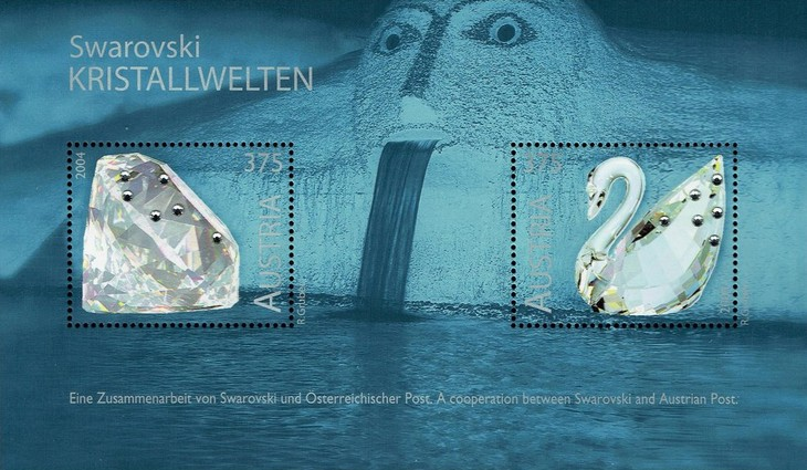 [Swarovski Glass Art Exhibition - Postage Stamps with Crystals, Typ ]