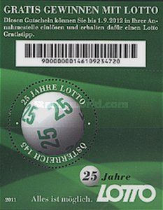 [The 25th Anniversary of the 6 out of 45 Lottery, Typ ]