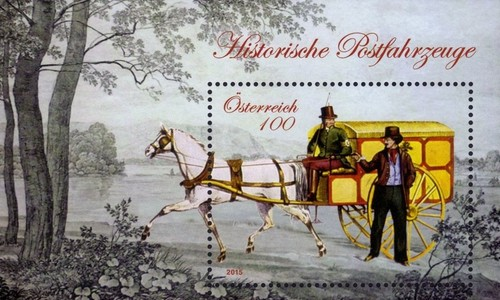 [Historical Postal Vehicles - Cariole Carriage, type ]