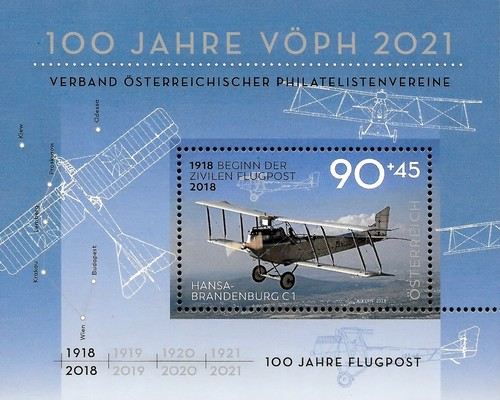 [The 100th Anniversary of the First Air Mail, Typ ]