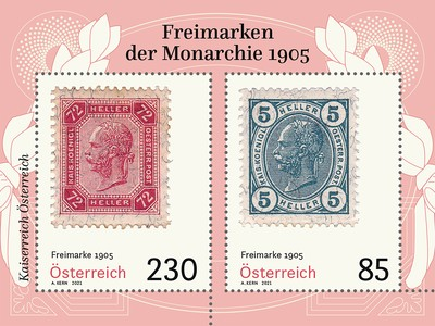 [Postage Stamps of the Monarchy of 1905, type ]