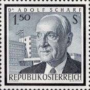 [Commemorative Stamp: Federal President Dr. Adolf Schärf, Typ ABA]