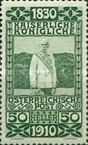 [The 80th Anniversary of the Birth of Emperor Franz Josef, type AE2]