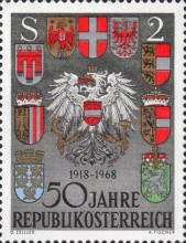 [The 50th Anniversary of the Republic of Austria, Typ AET]