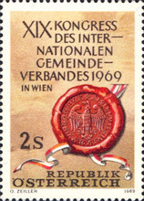 [The 19th Congress of the International Association of Municipalities 1969 in Vienna, Typ AFP]