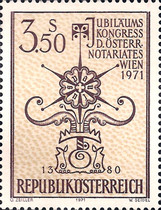 [Anniversary Congress of the Austrian Notary's Office Vienna 1971, Typ AHV]