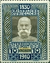 [The 80th Anniversary of the Birth of Emperor Franz Josef, Typ AJ1]