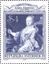 [The 200th Anniversary of the Death of Empress Maria Theresa, type ASJ]
