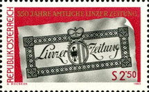[The 350th Anniversary of the Official Journal of Linz, type ATB]