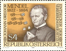 [The 100th Anniversary of the Death of Johann Gregor Mendel, тип AXD]