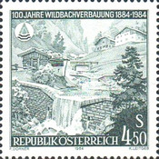 [The 100th Anniversary of Flash Flood Control Works in Austria, тип AXT]
